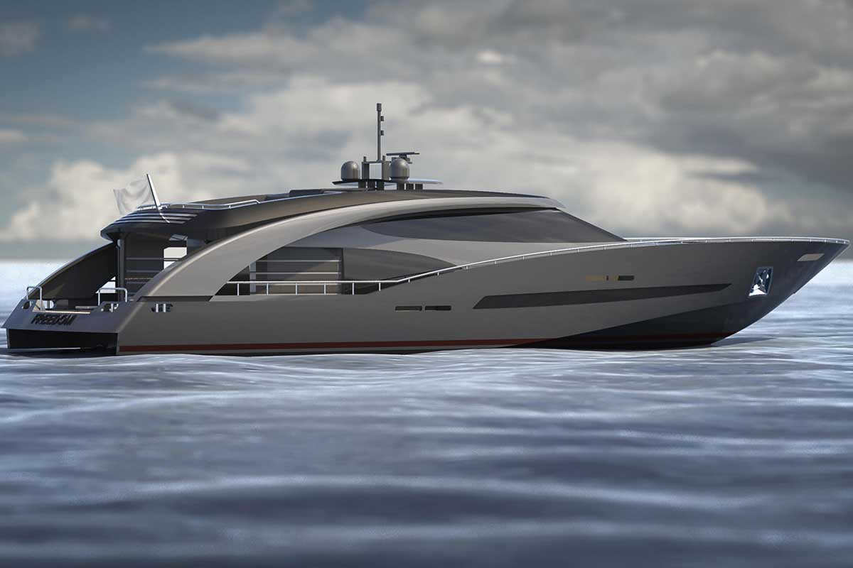 Iate de Roberto Cavalli CCN Freedom 27m - boat shopping