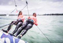 Martine Grael e Kahena Kunze treinos - boat shopping