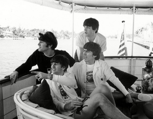 4 – Os Beatles a bordo do yacht Southern Trail em Miami, 1964