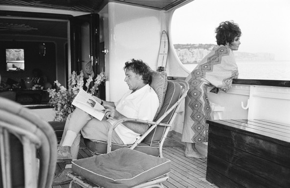 5 – O casal Richard Burton e Elizabeth Taylor na Sardinia em 1967