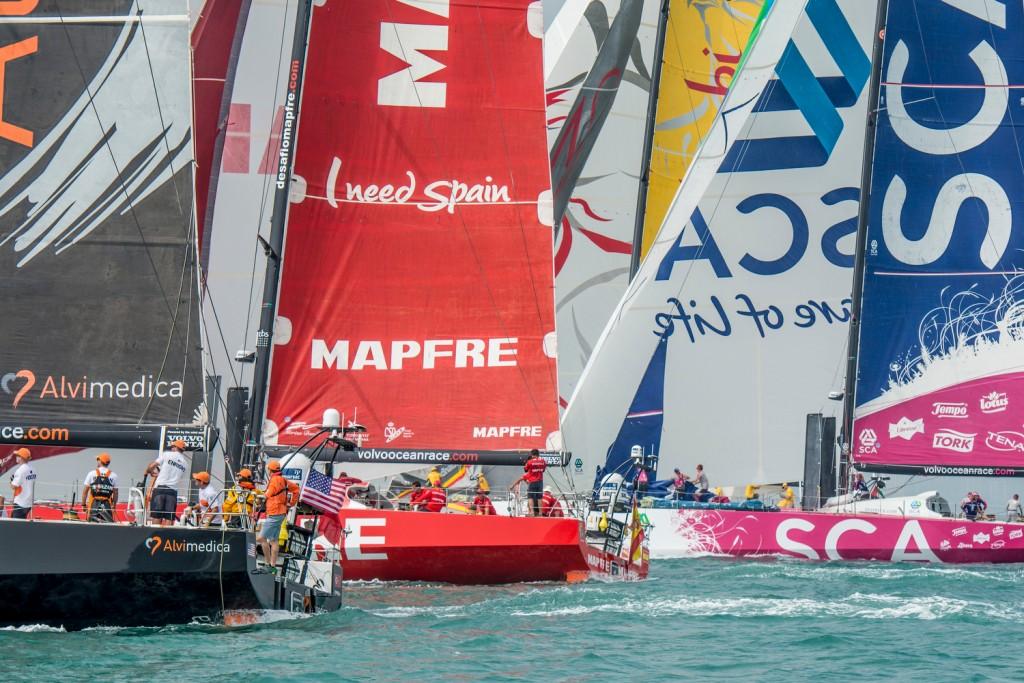 Muito equilíbrio no início desta quarta etapa (Foto: Marc Bow/Volvo Ocean Race)