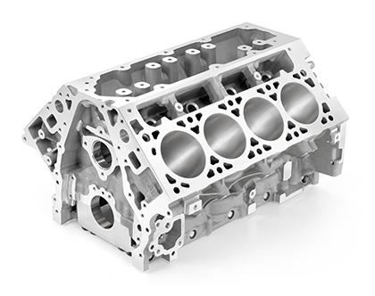 Bloco de alumínio garante menor peso para os motores