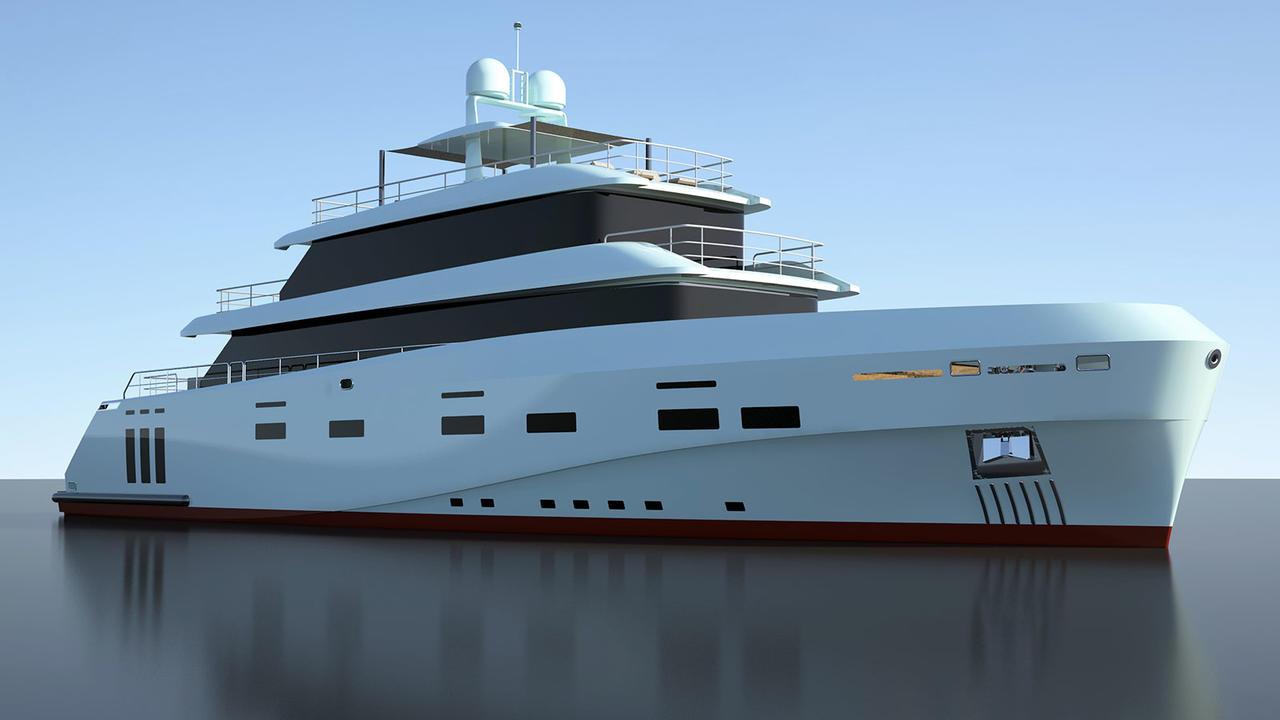 Kanga: o yacht de 41m começa a tomar forma