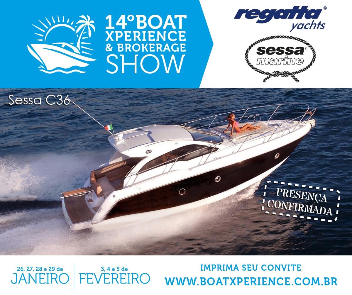 A Sessa C36 também estará no 14º Boat Xperience