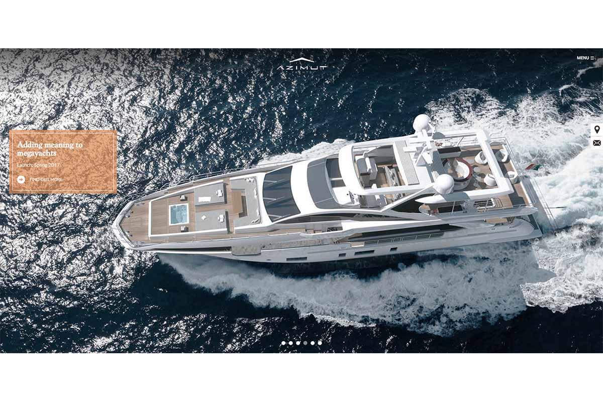 Novo site Azimut Yachts