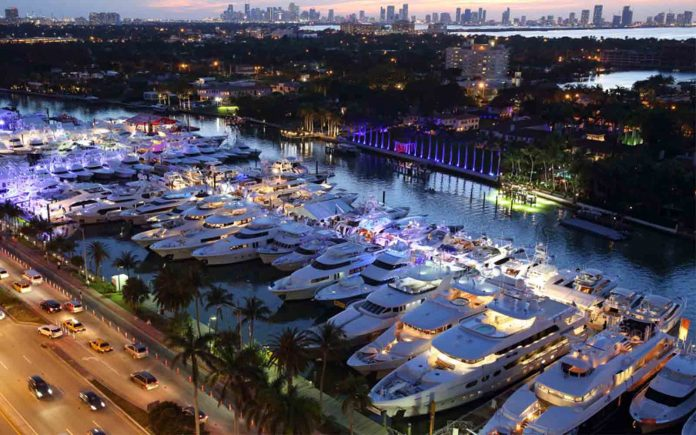 Miami Yacht Show - boat shopping