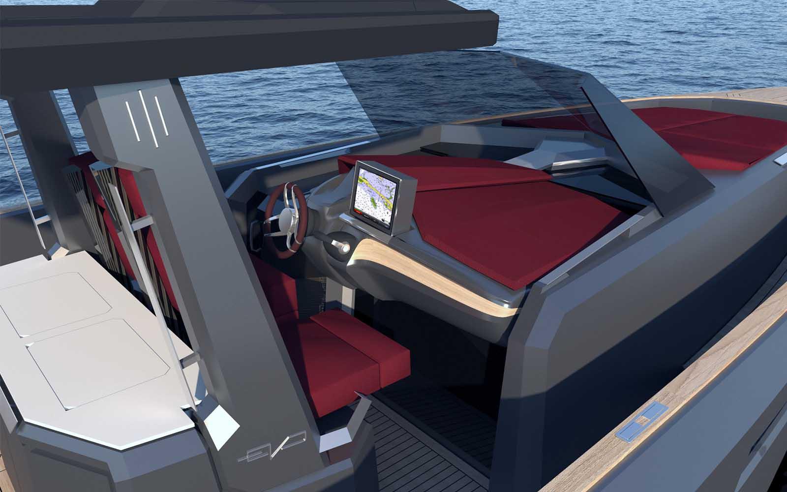 posto de comando Evo Yachts - boat shopping