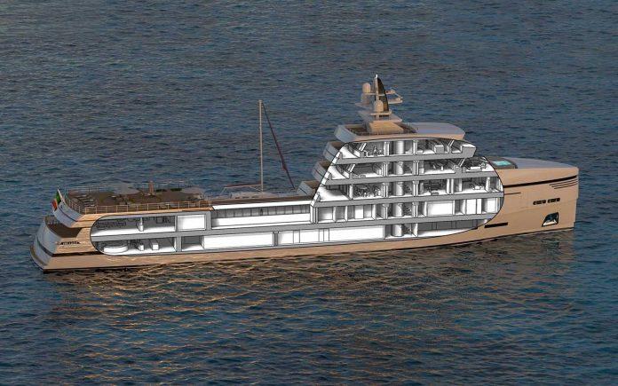 Designer italiano revela conceito de iate de apoio-boatshopping