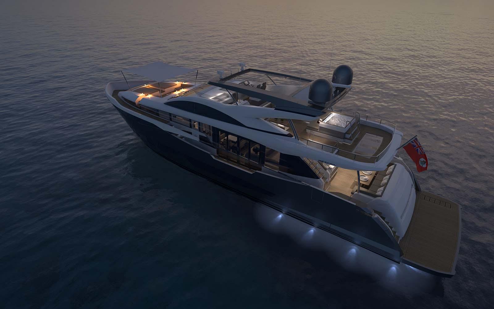 Pearl 95-Nightshot-boatshopping