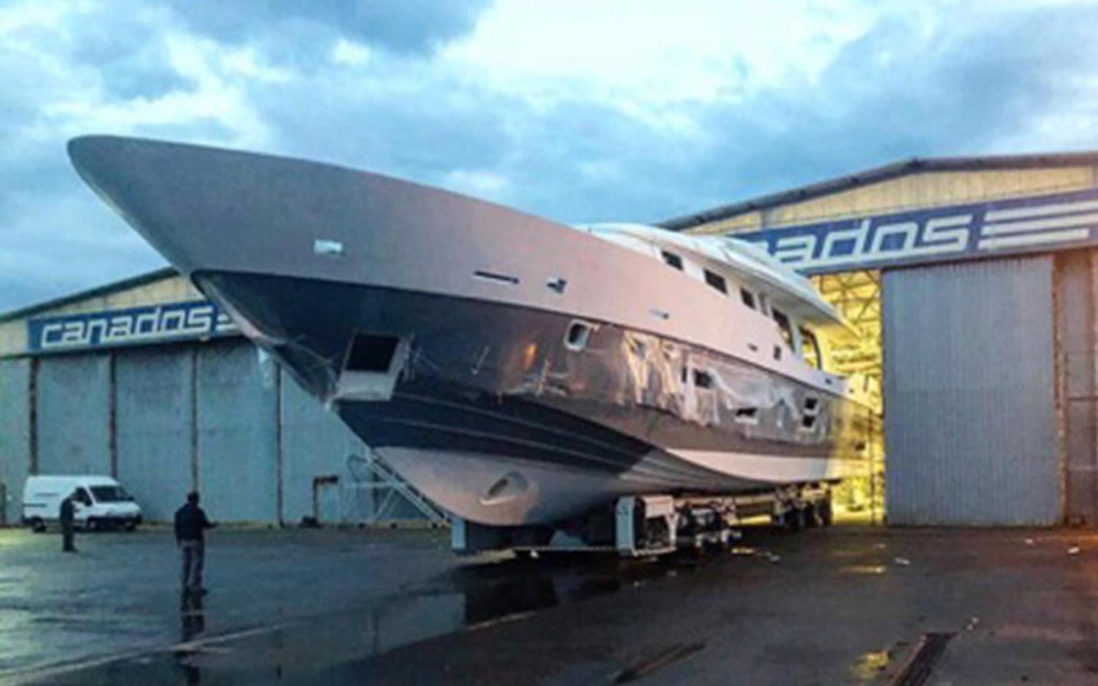 Terceiro iate Canados 120 tem casco e superestrutura unidos-boatshopping