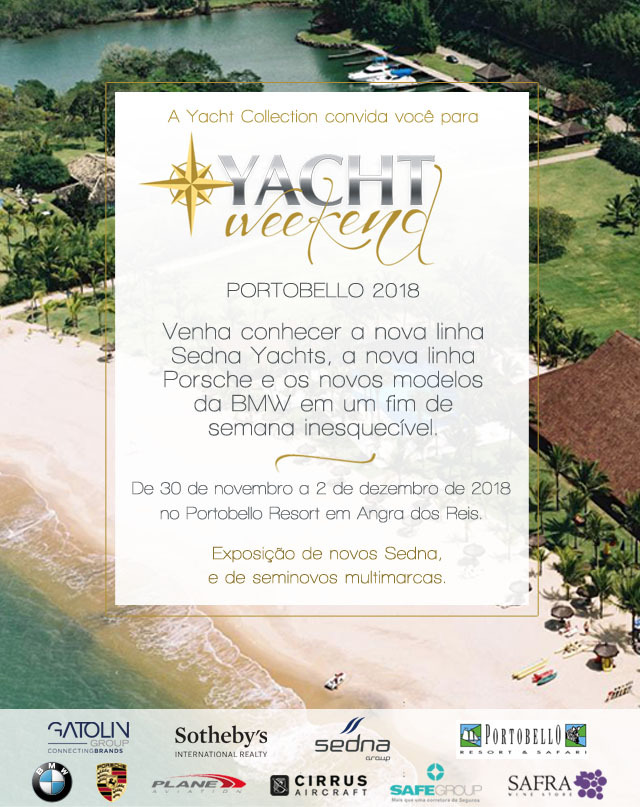 CONVITE YACHT WEEKEND 2018 Yacht Collection evento - boat shopping