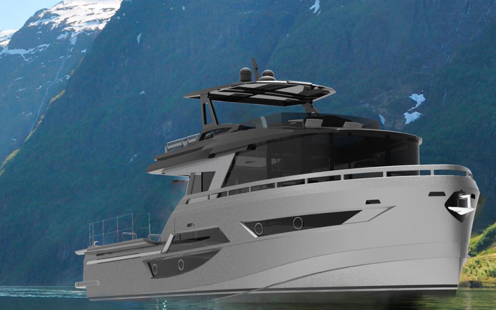okean 50x explorer render - boat shopping
