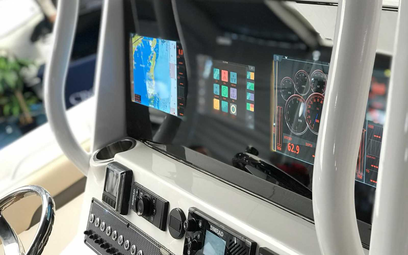 simrad display integrado - boat shopping 3