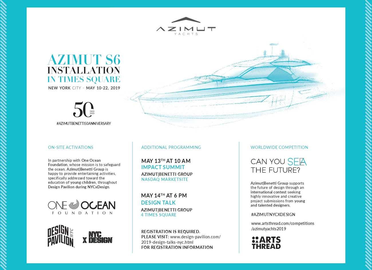 azimut benetti new york design week - boat shopping