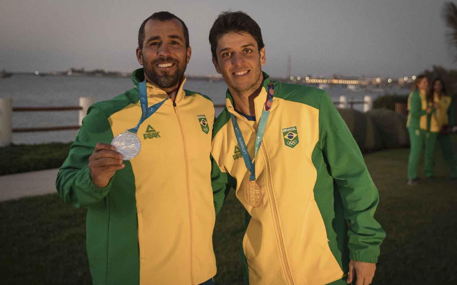 Matheus Dellagnelo e Bruno Fontes medalhas de ouro e prata vela pan americano - boat shopping