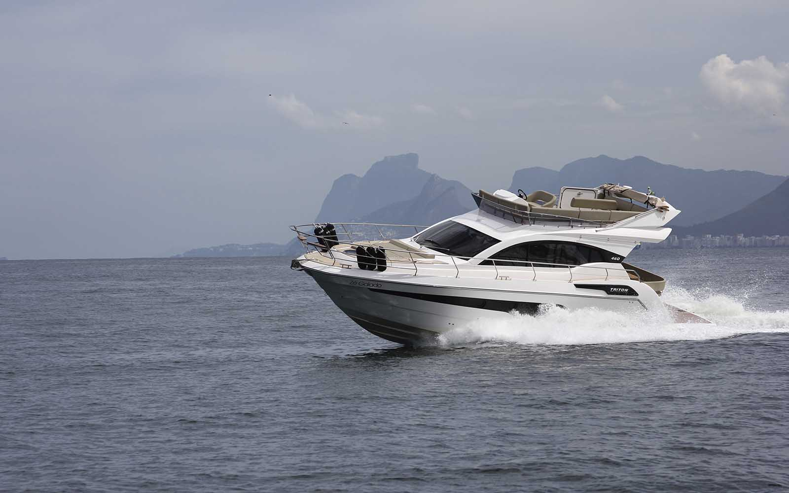 boat teste triton 460 fly - boat shopping
