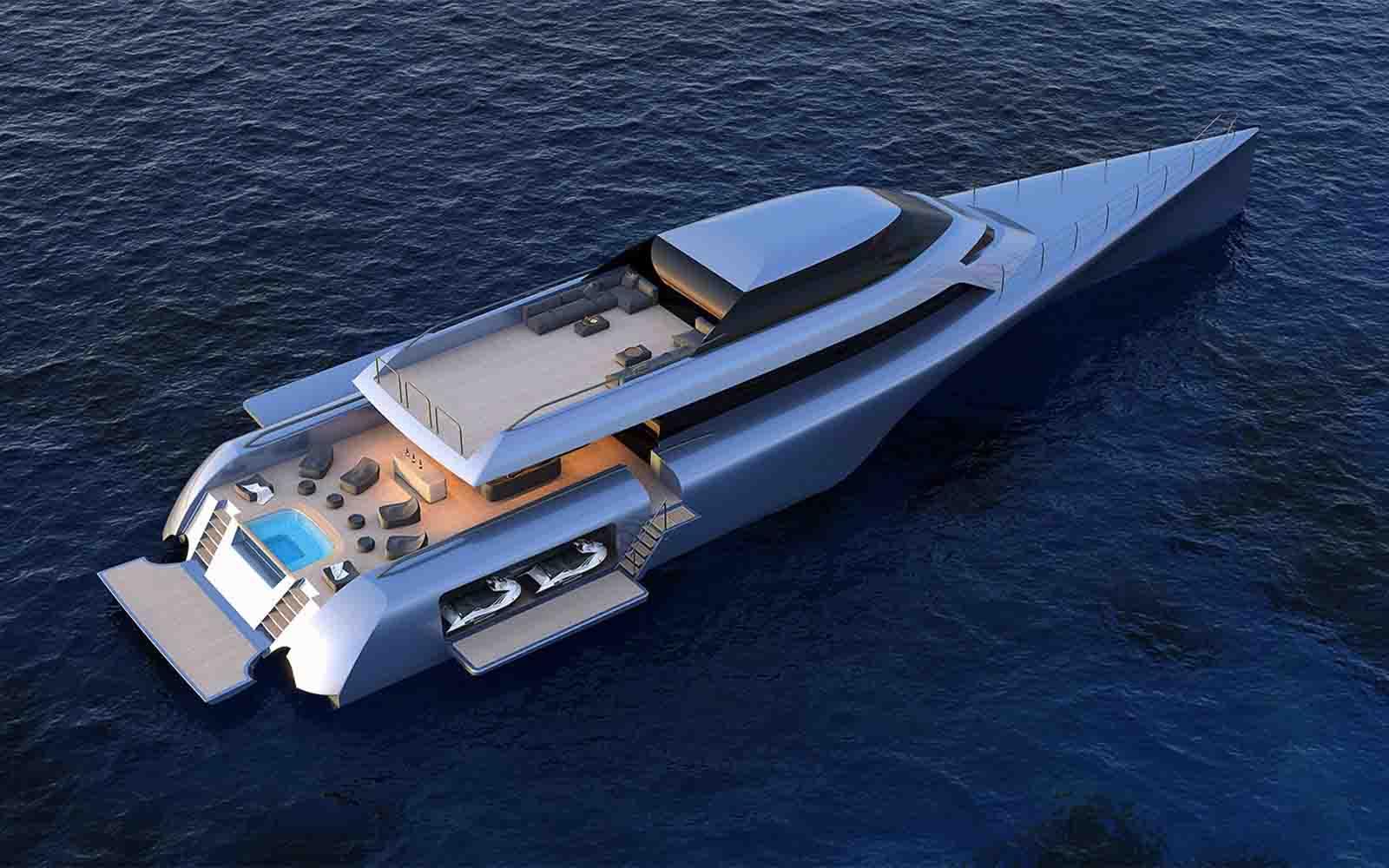 conceito de superiate trimaran - boat shopping