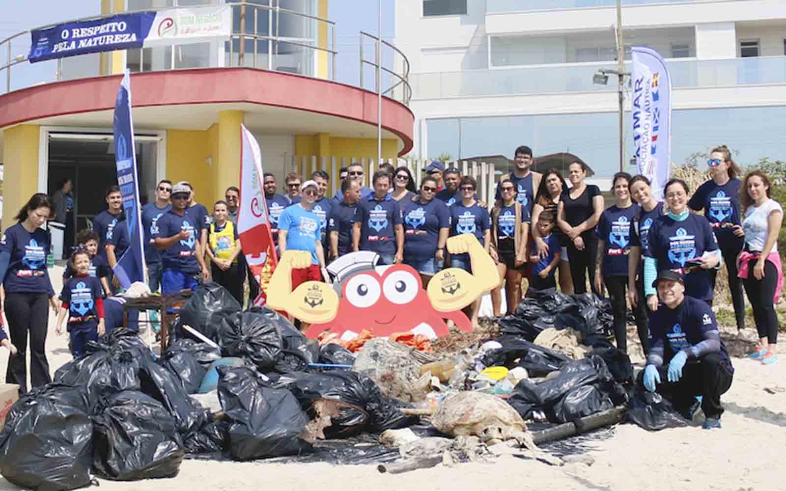 projeto limpeza dos mares 1 tonelada de lixo - boat shopping 6