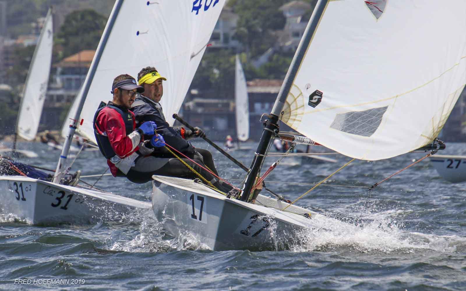Luiz José Junior e Anísio Corrêa - terceiros colocados - FOTO FRED HOFFMAN - boat shopping