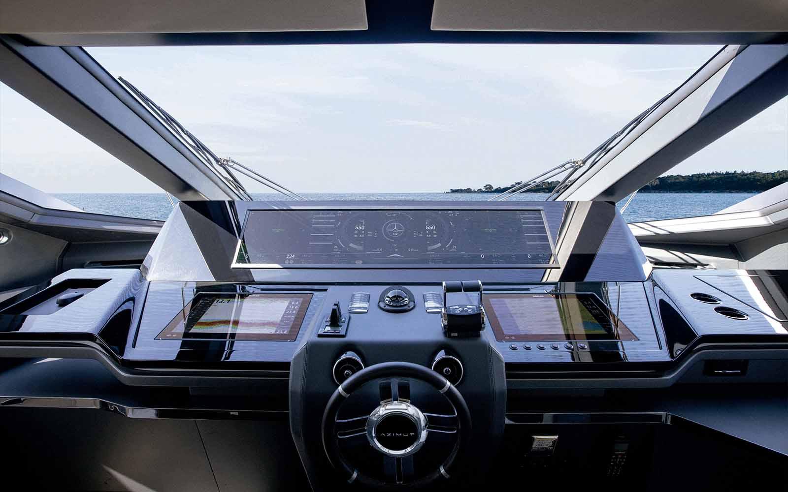 Azimut Grande S10 posto de comando Simrad Naviop - boat shopping
