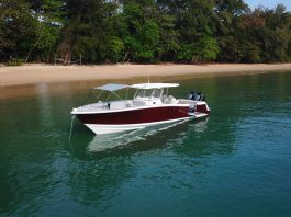Fishing Raptor 375 Solarium Thailand Yacht Show - boat shopping 3