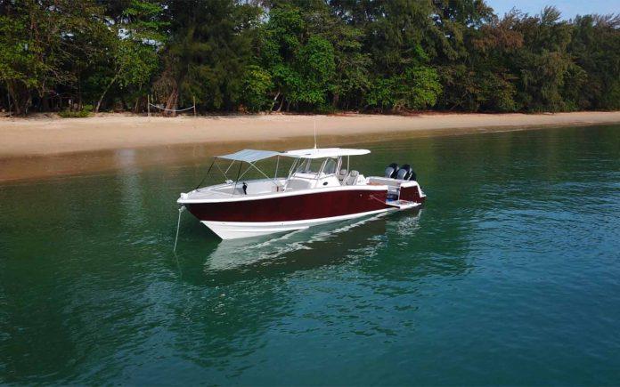 Barco Fishing Raptor 375 Solarium Thailand Yacht Show - boat shopping 3