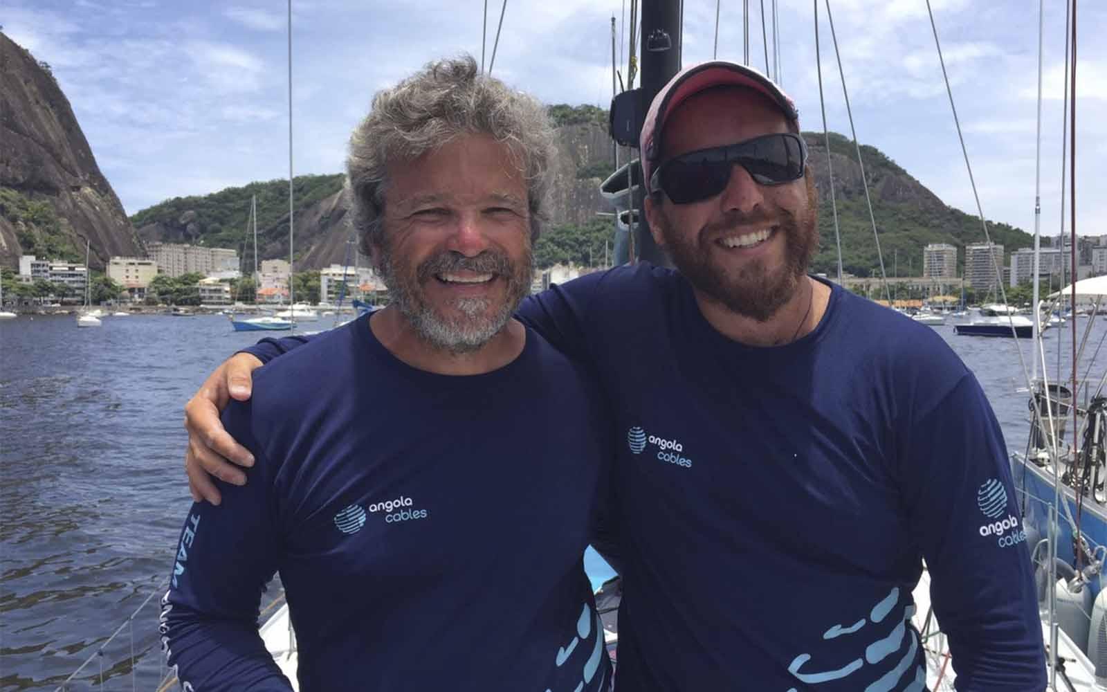 José Guilherme and Leonardo Mussulo 40 Cape2Rio - boat shopping