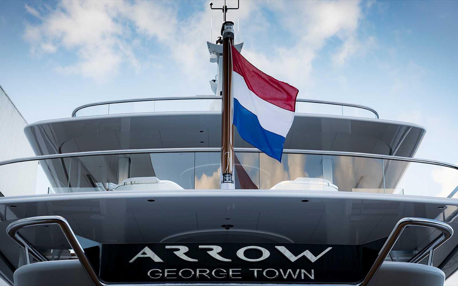 Superyacht Arrow Feadship entrega - boat shopping