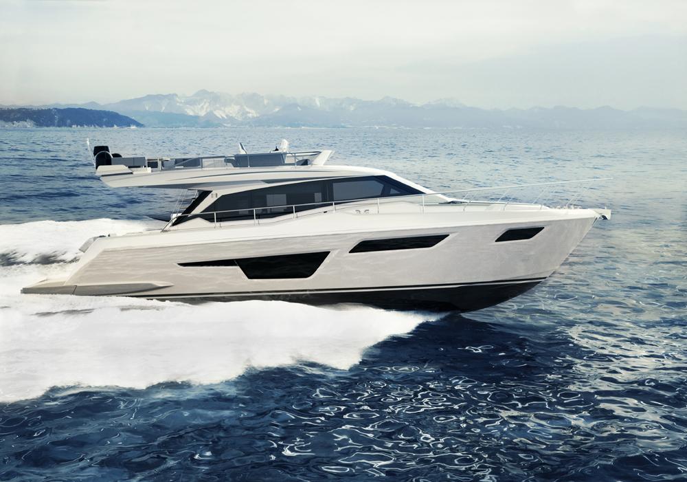 Ferretti Yachts 500 running - boat shopping
