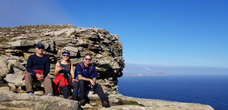Isolamento a bordo - Vilfredo Erika e Wilhelm em West Falkland1