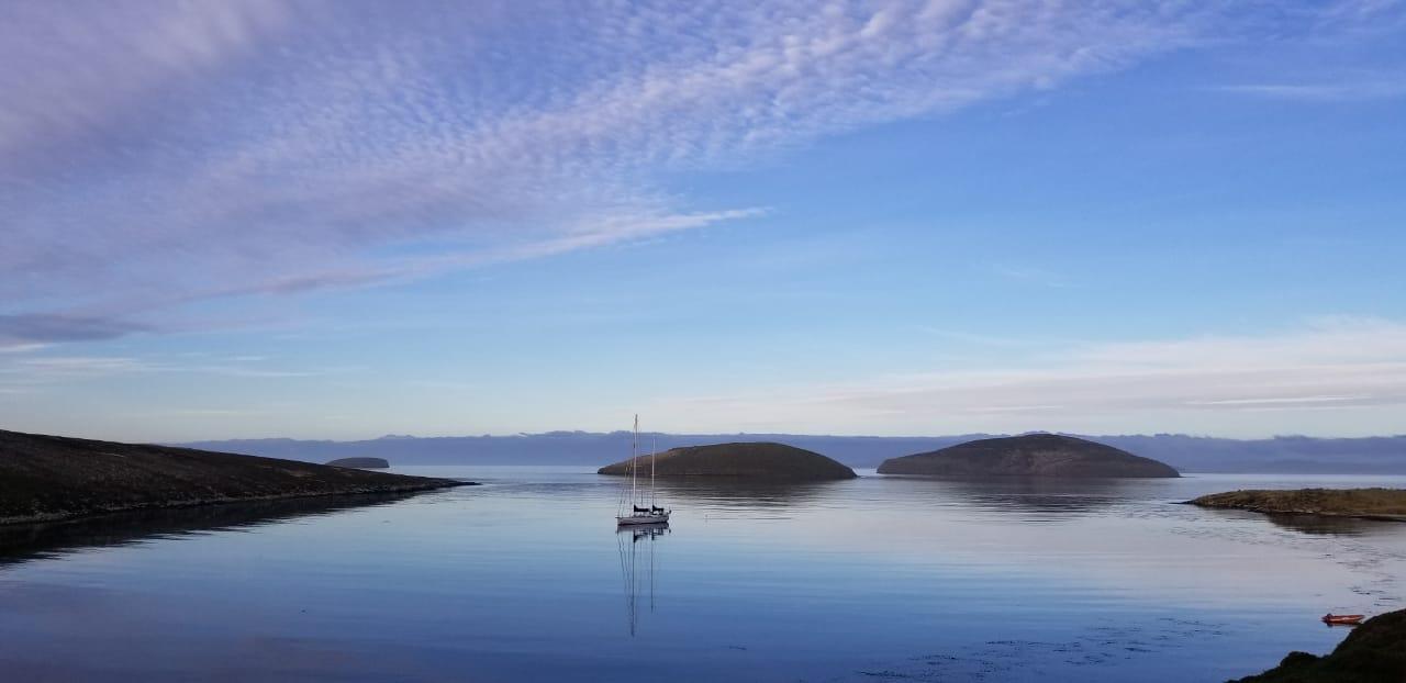 Isolamento a bordo - veleiro Kat nas Ilhas Falklands Malvinas 1