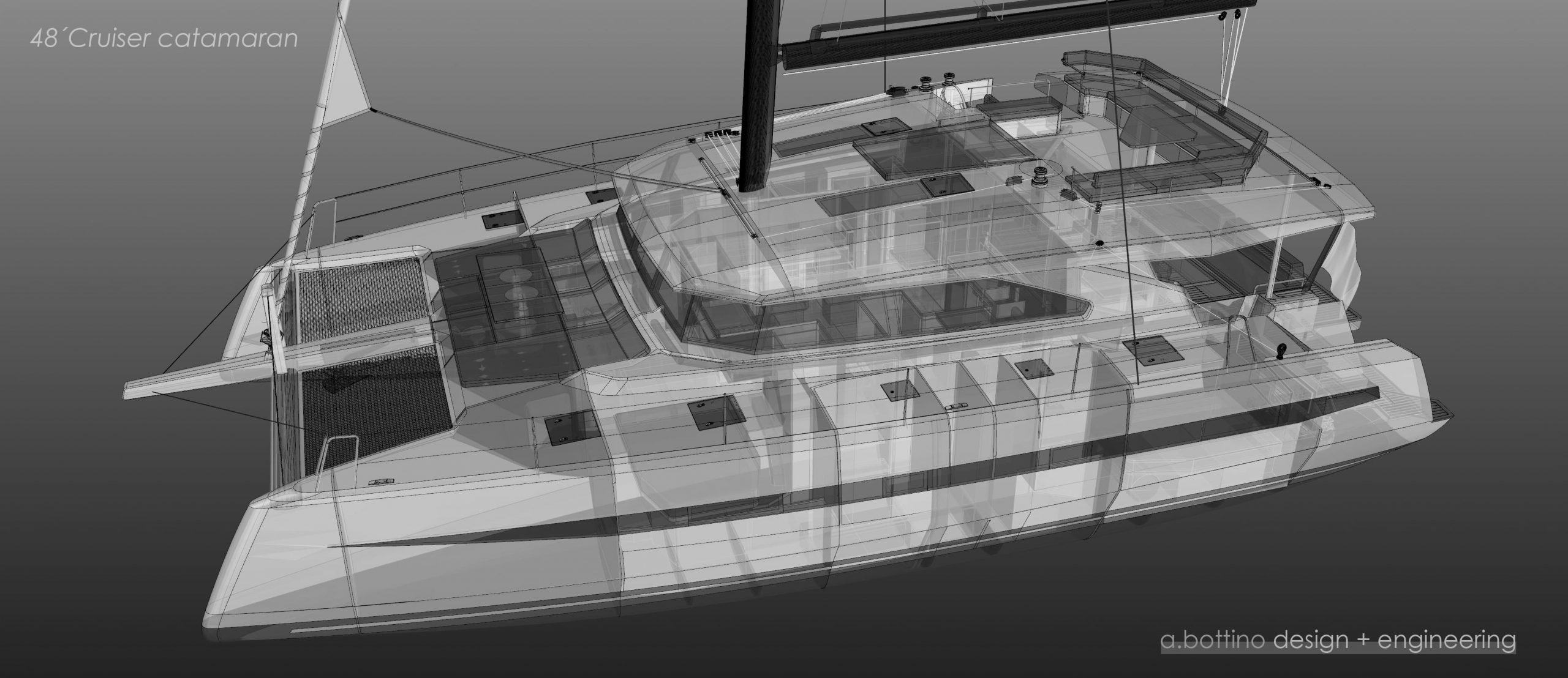 AG Cat sail 48 render - boat shopping