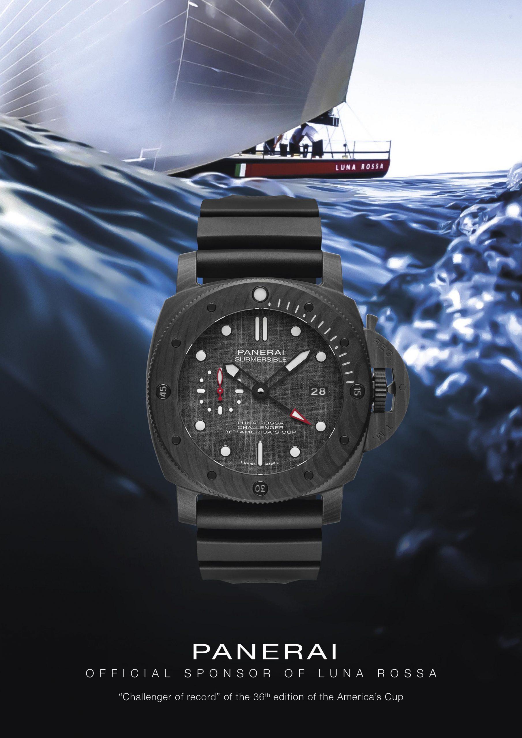 Panerai Submersible Luna Rossa - boat shopping