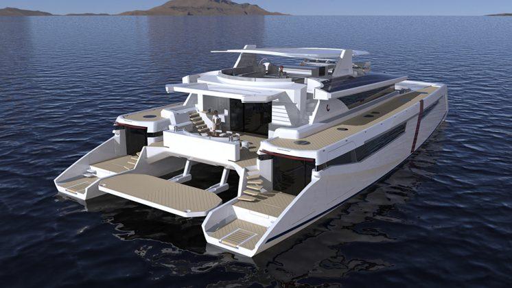 Catamarã hidrogenio Corellian 110 de Alexandre Thiriat - boat shopping